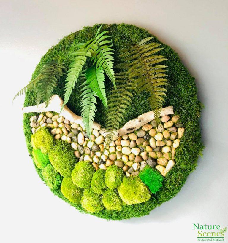 Circular Moss Art Frame-less
