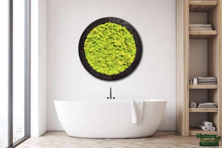 Bathtub MossArt Circle Framed